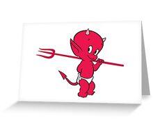 Hot Stuff the Devil Greeting Card