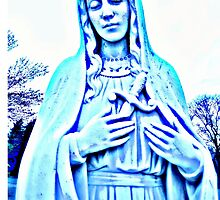 Blue Madonna With Sword by JennCaen