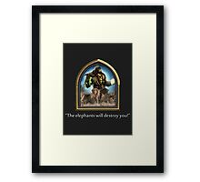 Hearthstone - Thrall Elephants Emote Framed Print