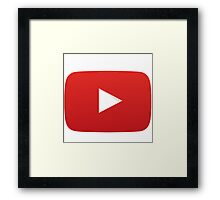 Youtube Play Button Framed Print