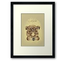 I Ruff to Read Framed Print
