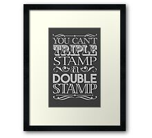 Triple Stamp Dark Framed Print
