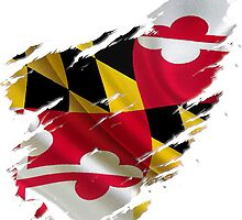 Maryland Flag Tearaway by JoeyHawkins