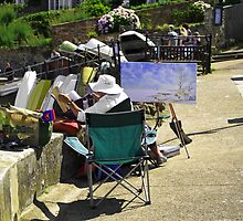 Artist at Work, Seaview by Rod Johnson