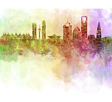 Riyadh skyline in watercolour background  Photographic Print