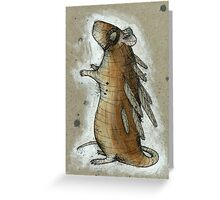 Feathered Rat Greeting Card