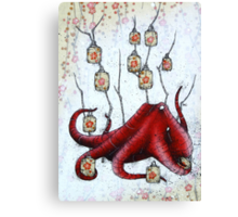 Lantern Octopus Canvas Print