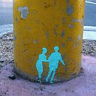 Run Away - Street Art Stencil in Auckland by LastLittleBird