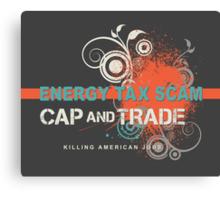 Energy Tax Scam Canvas Print