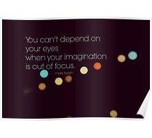 Eyes Mark Twain Poster