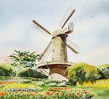 Dutch Windmill San Francisco by Irina Sztukowski