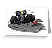 Ayrton SENNA_Lotus 98T Greeting Card
