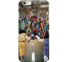 Sayajins vs Marvel's Heroes iPhone Case/Skin