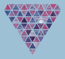 Berry Purples - Triangle Patchwork Pattern Kids Clothes
