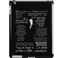 Giles in his own words - white iPad Case/Skin