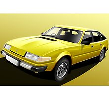 Poster artwork - Rover SD1 3500 by RJWautographics