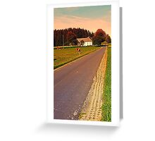 Country road on summer morning   landscape photography Greeting Card