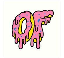 Odd Future Dripping Donut  Art Print