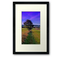 A lonely tree with some scenery around | landscape photography Framed Print