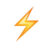 Lightning Bolt Emoji by rachelreneeward