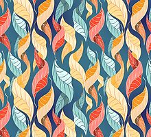 colorful autumn leaves pattern  by Tanor