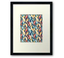 colorful autumn leaves pattern  Framed Print