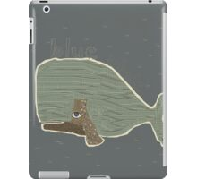 blue whale iPad Case/Skin