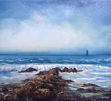 Lighthouse at Cranfield by Marion Clarke