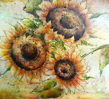 Sunflower Medley by ursula wollenberg
