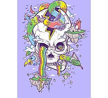 Flying Rainbow skull Island Photographic Print