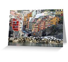 All About Italy. Piece 8 - Riomaggiore Greeting Card