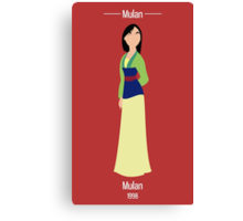 Mulan Illustration Canvas Print