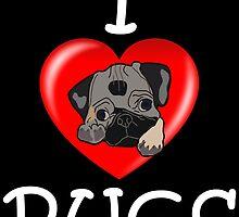I Love PUGS by tfsjason