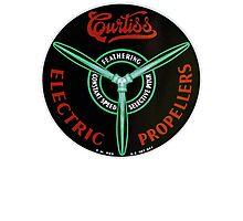 Curtiss Propeller Logo Repro Photographic Print