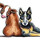 Australian Cattle Dog by offleashart