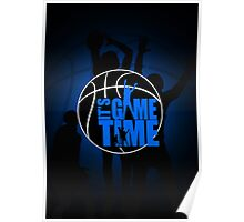 It's Game Time - Blue Poster