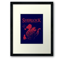 Sherlock - A scandal in Middle Earth (red) Framed Print
