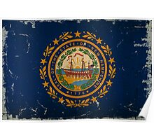 New Hampshire State Flag VINTAGE Poster