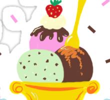 Life Is Short Eat More Sundaes  Sticker