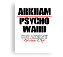 Arkham Psycho Ward - White Canvas Print