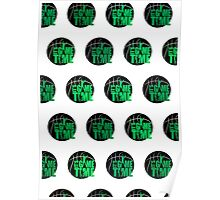 It's Game Time - Green (Pattern) Poster