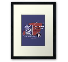 Timey Wimey Machine - Doctor Approved! Framed Print