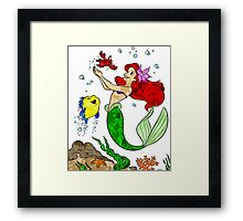 Ariel and Friends Framed Print