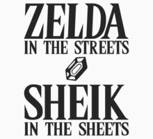 Zelda in the streets, Sheik in the sheets by Reptar22