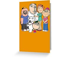 Family Guy Meme/Rage Faces Greeting Card