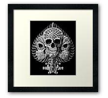Skull Spade Framed Print