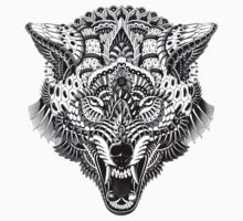 Wolf Head Kids Clothes