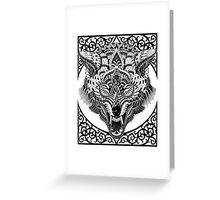 Wolf Head Greeting Card
