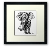 Ornate Elephant Framed Print