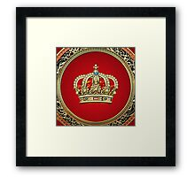 Prince-Princess King-Queen Crown [Gold] Framed Print